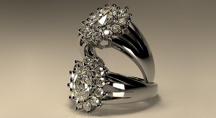 Projektowanie biżuterii pierścionki srebro