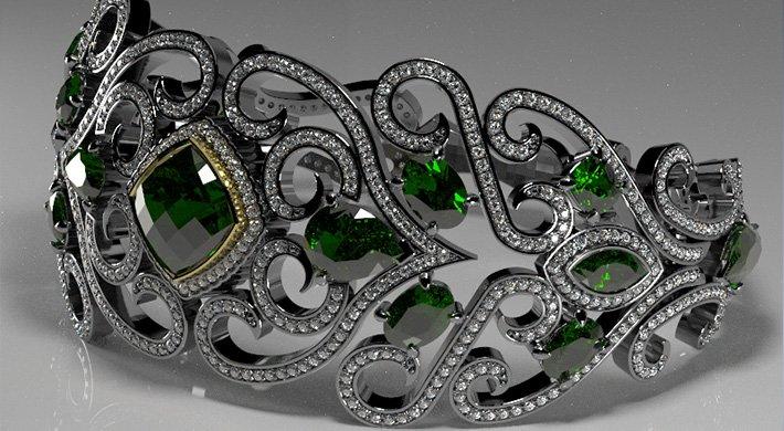 projektowanie biżuterii kolia