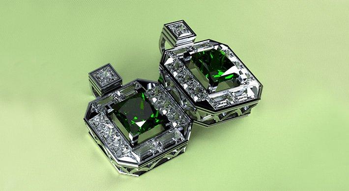 projektowanie biżuterii spinki