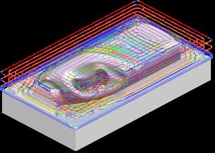 ZW3D CAD/CAM - obróbka zgrubna frezowanie Offset 2D