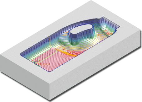 ZW3D CAD/CAM - obróbka wykańczająca Poziomy Z