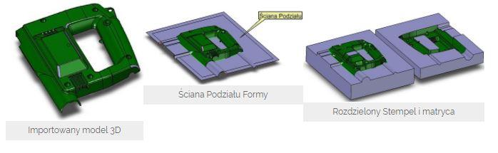 ZW3D Professional, tworzenie gniazda formującego formy