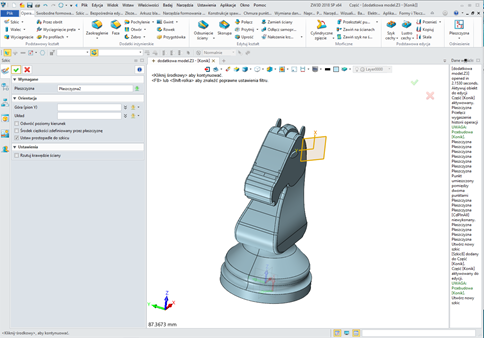ZW3D CAD/CAM. Wstawianie szkicu 2d na płaszczyźnie