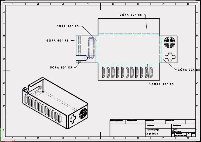 Arkusze blach w ZW3D CAD/CAM funkcja rozłożenia