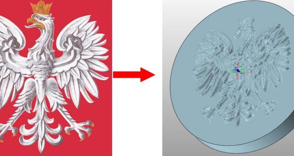 Program CAD, wytłoczenia obrazu z efektem płaskorzeźby
