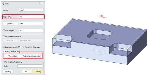 Dodawanie bazy w ZW3D CAD/CAM