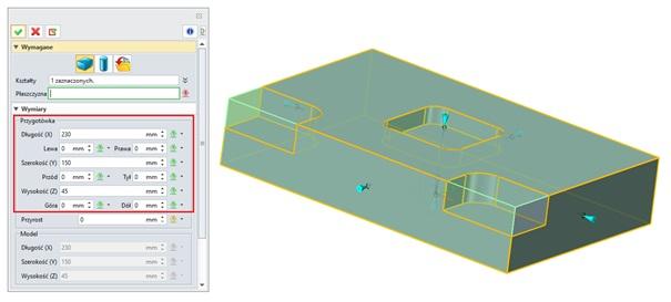 Dodawanie naddatku symetrycznego w przygotówce w zw3d cad cam