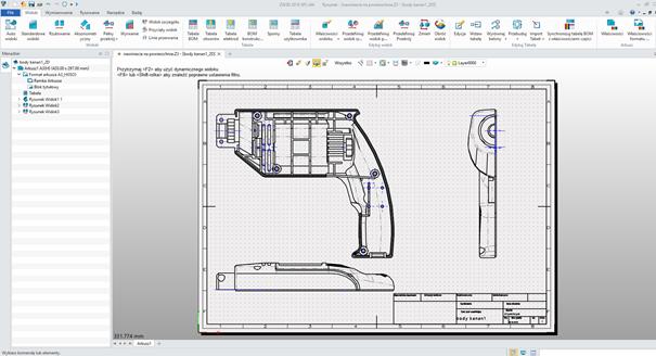 Gotowa dokumentacja 2D w ZW3D CAD/CAM