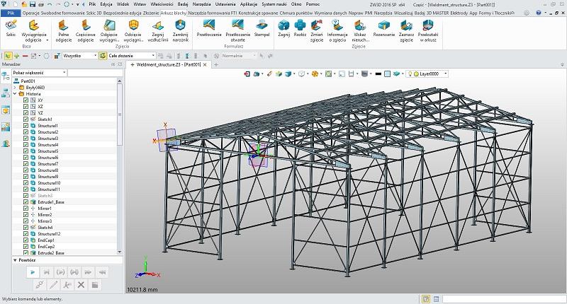 Konstrukcje spawane w ZW3D CAD/CAM