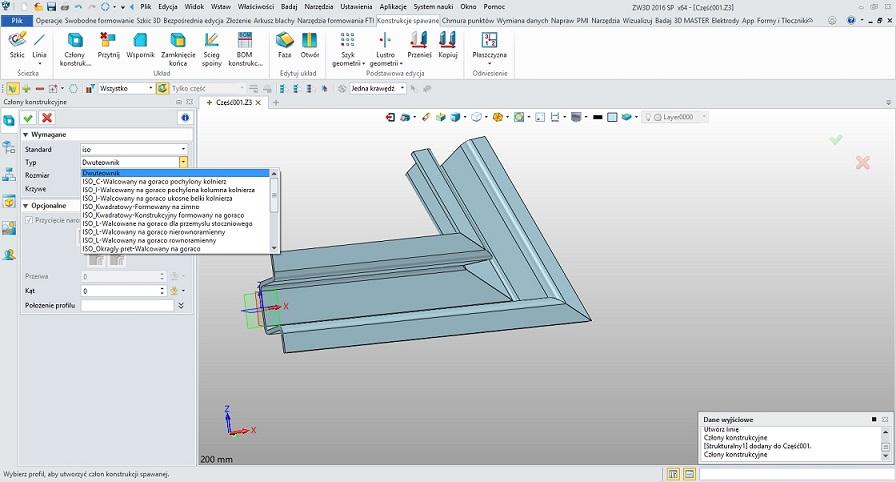 Program CAd, ZW3D - konstrukcje spawane