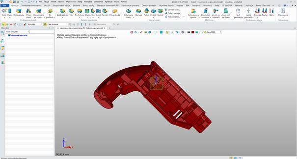 Model 3D przesunięty o kąt w ZW3D CAD/CAM