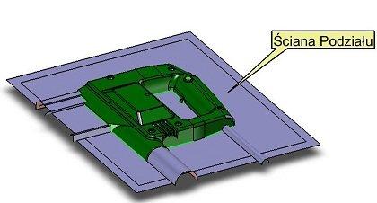 ZW3D Professional, ściana podziału gniazda formującego formy