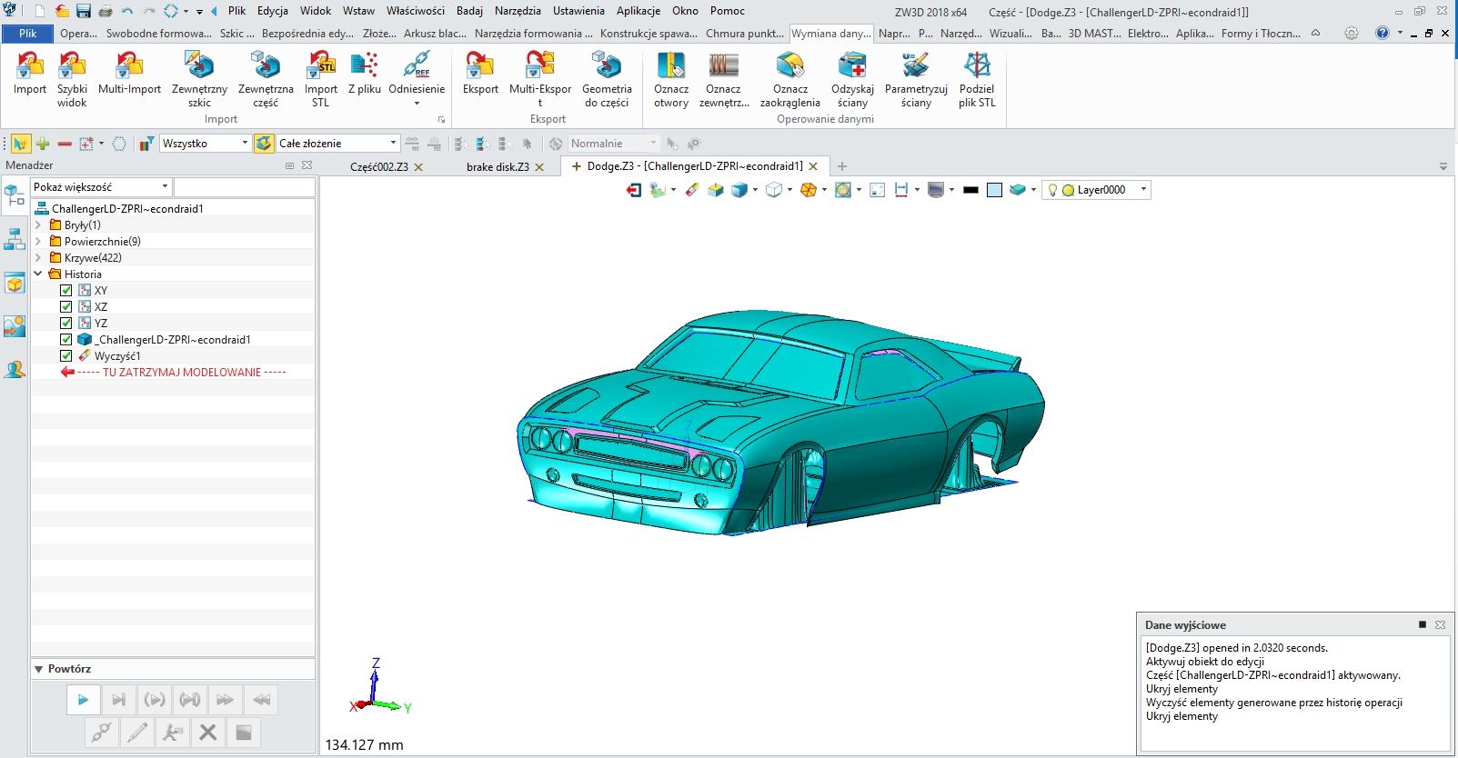 Narzędzia do naprawy modeli 3D w ZW3D CAD/CAM