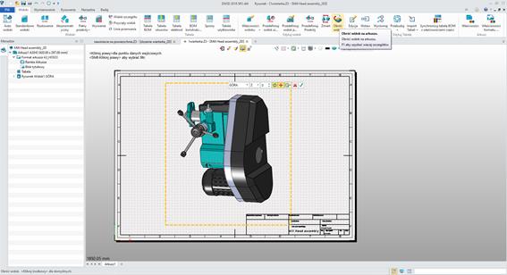 Polecenie obróć widok w ZW3D CAD/CAM