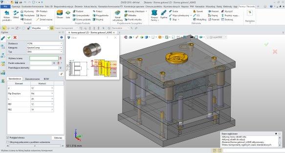 Biblioteka części w ZW3D CAD/CAM