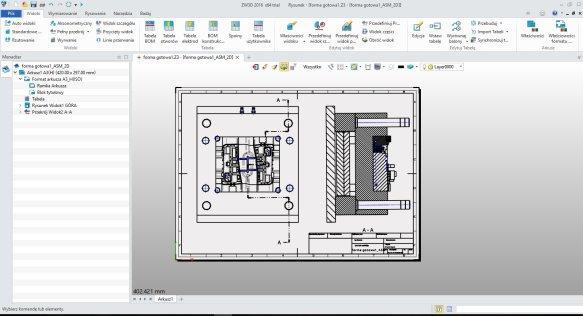 BOM w ZW3D CAD/ CAM