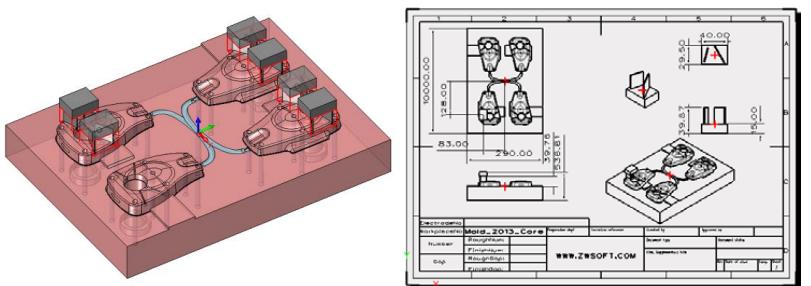 Projektowanie elektrod formy w ZW3D CAD/CAM