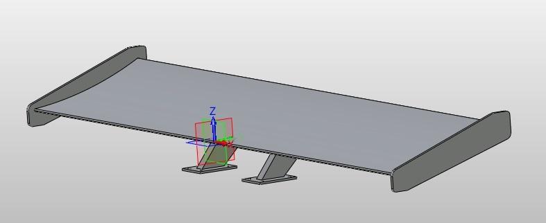 Projektowanie CAD części samochodu, spojlera