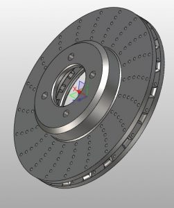 Projekt CAD tarczy hamulca