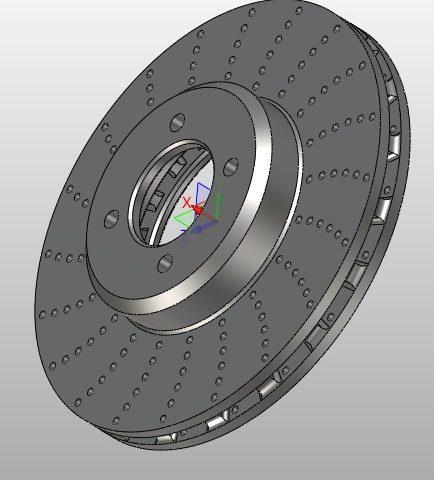 Projekt CAd tarczy hamulca w ZW3D CAD/CAM
