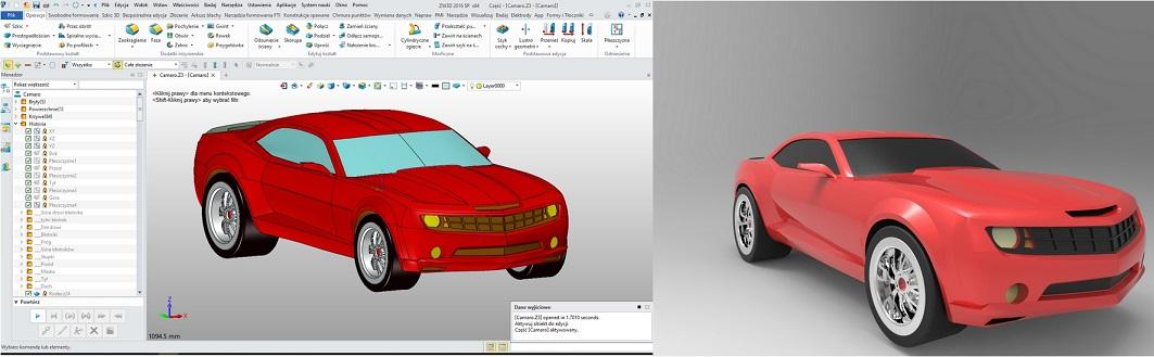 Renderowanie projektu CAD w ZW3D z dodatkiem KeyShot