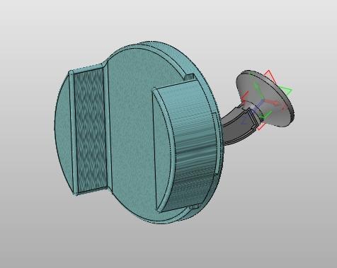Uchwyt samochodowy zaprojektowany w ZW3D CAD/CAM