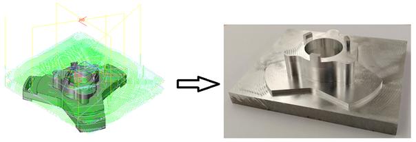 Volumill obróbka detalu aluminiowego