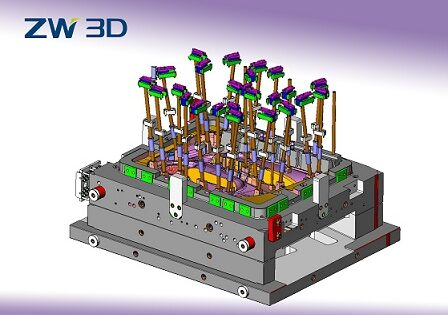 ZW3D CAD/CAM, wypychacze do form