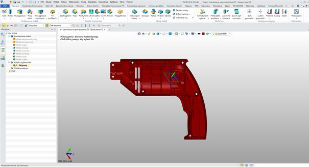 Zdefiniowany widok użytkownika w ZW3D CAD/CAM