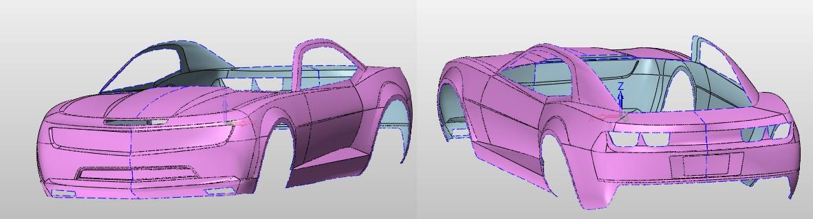 Model CAD karoserii Camaro