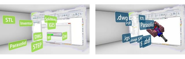 wymiana danych podczas projektowania 3D w zw3d cad/cam