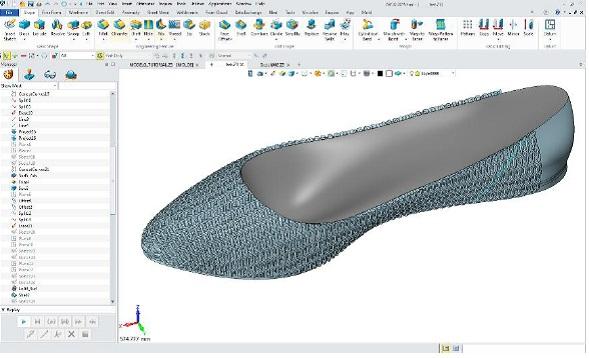 Modelowanie 3D buta