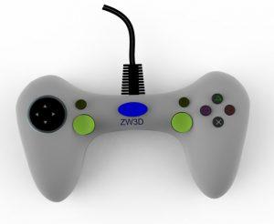 Modelowanie 3D gamepad'a w ZW3D CAD/CAM