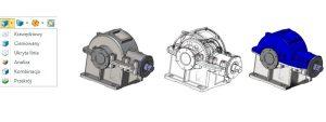 Różne metody wyświetlania dla całych części i złożeń w ZW3D CAD/CAM