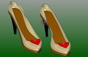 Edycja obcasa buta w ZW3D CAD/CAM