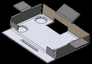 Model 3D - element blaszany wykonany w ZW3D CAD/CAM