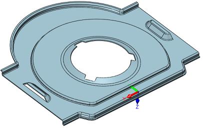 Element blaszany w ZW3D CAD/CAM