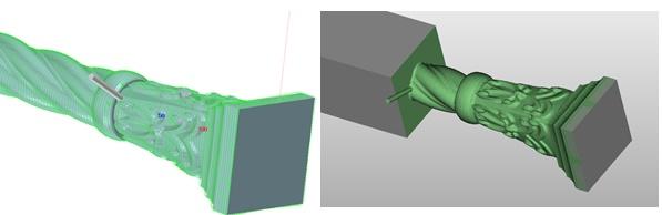 Frezowanie dla 5 osi, operacje krzywe w ZW3D CAD/CAM