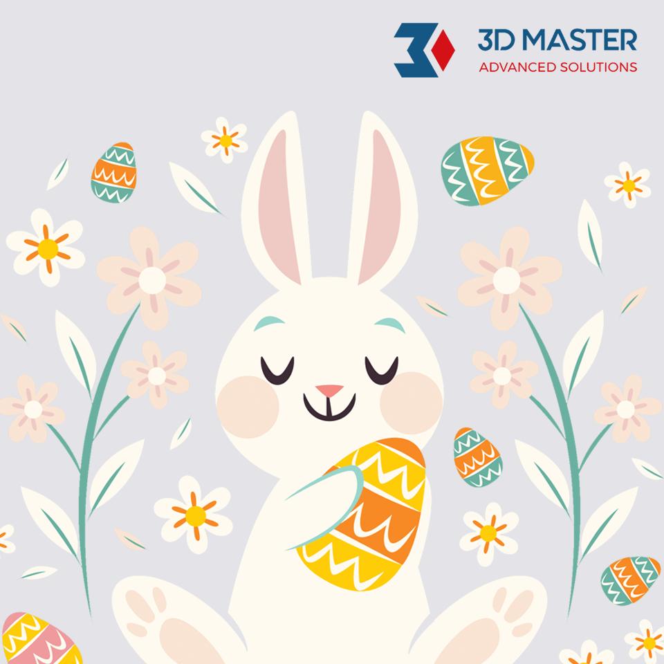 zyczenia Wielkanocne od 3D MASTER 2019