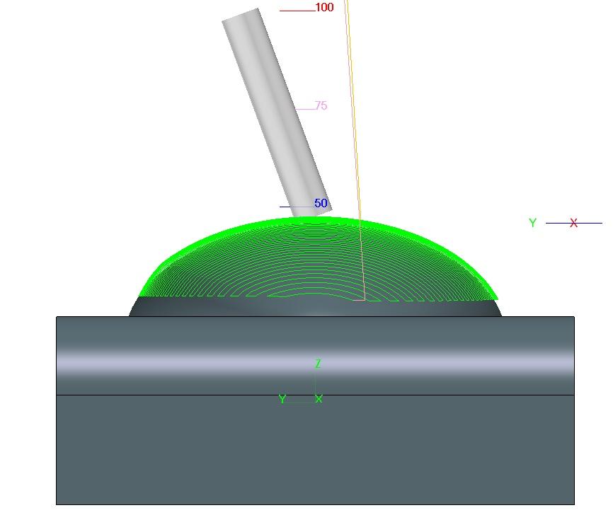 Obróbka powierzchni dla 5 osi