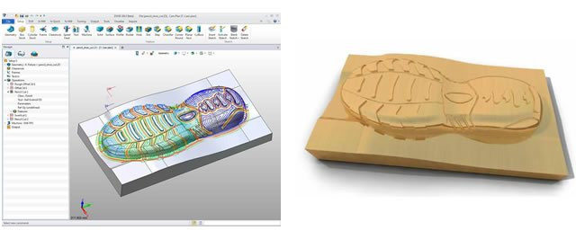 w i 3 osiowe frezowanie w ZW3D CAD/CAM