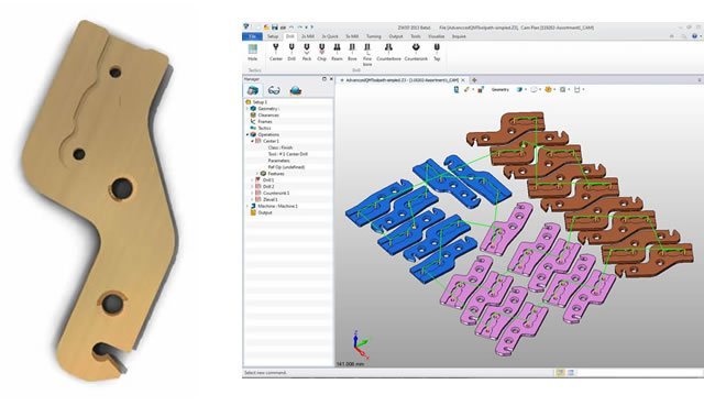 2 i 5 osiowe taktyki otworów w ZW3D CAD/CAM