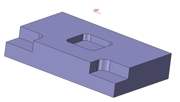 prostopadłościenna przygotówka w oparciu o geometrię części w zw3d cad cam