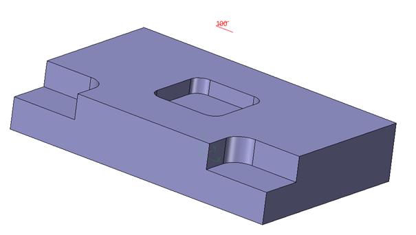 Prostopadłościenna przygotówka w oparciu o geometrie części w ZW3D CAD/CAM