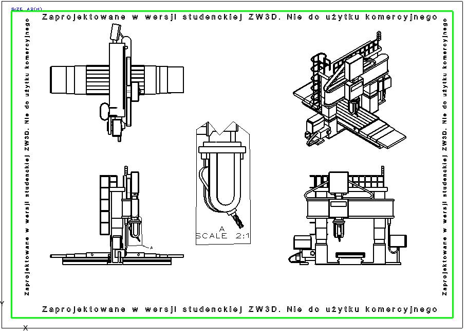 Dokumentacja 2D w wersji studenckiej ZW3D CAd/CAM
