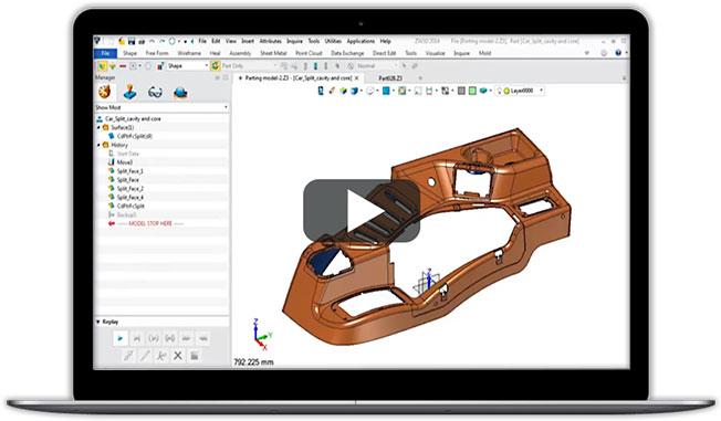 Elastyczne narzędzia form w ZW3D CAD/CAM