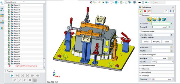 ZW3D CAD/CAM 2019 odczepienie okna operacji