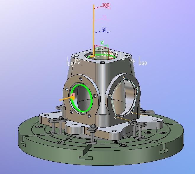 ZW3D CAD/CAM frezowanie indeksowane dla 2 osi