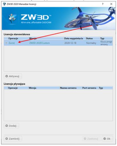 Zwróć ZW3D