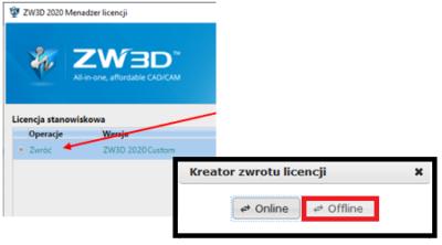 Zwrot offline ZW3D